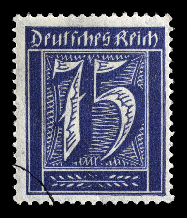 numeric: Stamp printed in Germany shows numeric value, circa 1921.