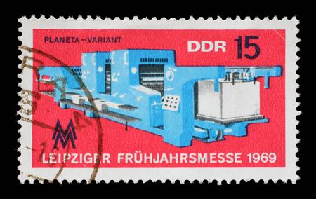 gdr: Stamp printed in GDR shows Leipzig Fair, circa 1969 Editorial