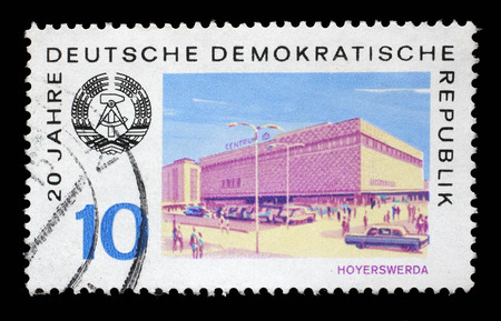 gdr: Stamp printed in GDR shows View of Hoyerswerda, circa 1969