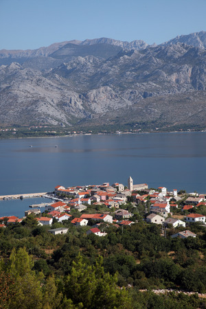 paklenica: Vinjerac, a small coastal town on the Adriatic Sea in Croatia Stock Photo