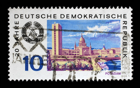 gdr: Stamp printed in GDR shows View of Potsdam, circa 1969