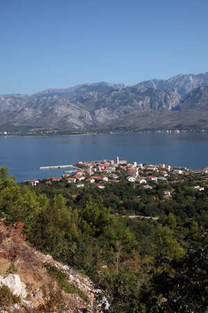 paklenica: Vinjerac, a small coastal town on the Adriatic Sea in Croatia Editorial