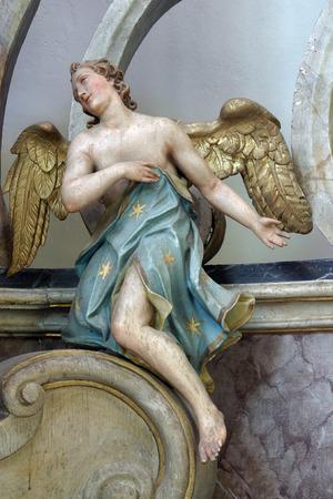 christian altar: Angel Stock Photo