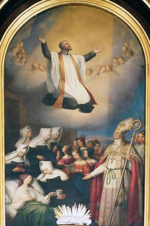 altarpiece: St. Vincent de Paul altarpiece in the Church of St. Vincent de Paul in Zagreb, Croatia
