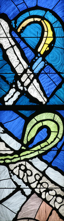 stained glass church: Stained glass church window