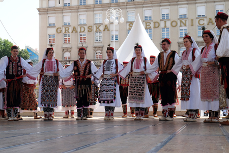 zagreb: Members of folk group from Vrlika, Croatia  during the 50th International Folklore Festival in center of Zagreb, Croatia on July 23, 2016 Editorial