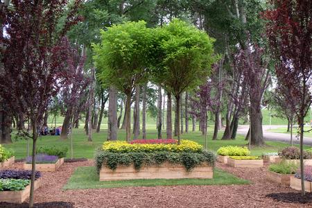 zagreb: Garden design, Floraart, 50 international garden exhibition in Zagreb, Croatia, on May 27, 2015.