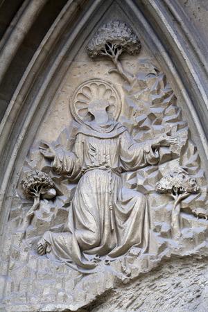 francis: Saint Francis, facade of Minoriten kirche in Vienna, Austria