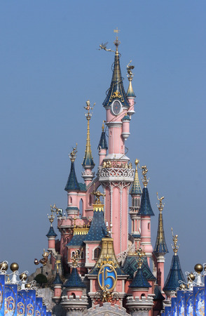 Sleeping Beautys Castle in the Disneyland, Paris