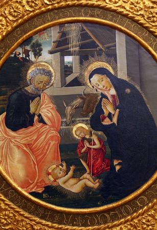 the renaissance: Pseudo Pier Francesco Fiorentino: The Birth of Jesus, Old Masters Collection, Croatian Academy of Sciences in Zagreb, Croatia