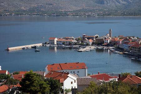 Vinjerac, a small coastal town on the Adriatic Sea in Croatia Stock Photo