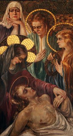 lamentation: Lamentation of Christ, Saint John the Baptist catholic church in Budva, Montenegro