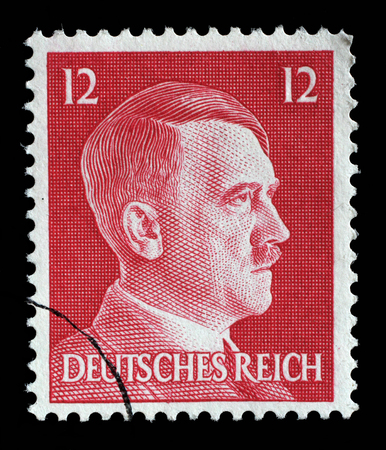 adolf hitler: Stamp printed in Germany shows image of Adolf Hitler, series, 1942