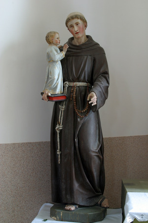 saint: Saint Anthony of Padua Stock Photo