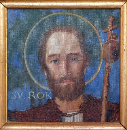 Saint Roch, Parish church of the Holy Trinity in Krasic, Croatia