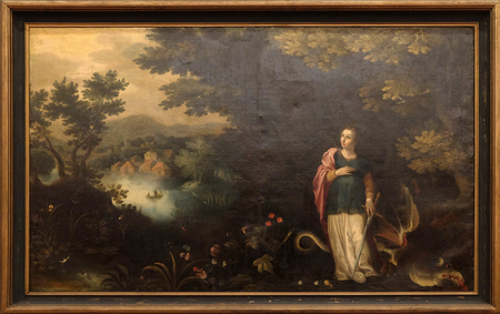 Jan Brueghel: Saint Margaret, exposed in the Croatian Academy of Sciences and Arts in Zagreb