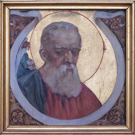 Saint Matthew the Evangelist, Parish church of the Holy Trinity in Krasic, Croatia Editorial