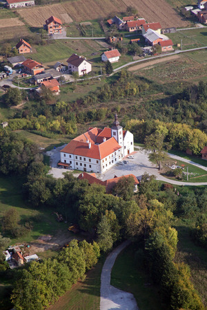 church of our lady: Parish Church of Our Lady of snow and Pauline monastery in Kamensko, Croatia