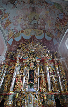 church of our lady: Altar in parish Church of Our Lady of snow in Kamensko, Croatia on September 23, 2013 Editorial