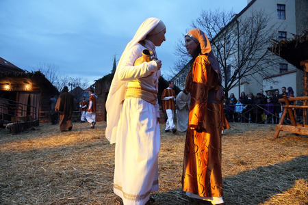 The religious spirit in the Advent in Zagreb especially can feel the front of the Cathedral, where Community Cenacolo organizes live Christmas nativity scene.