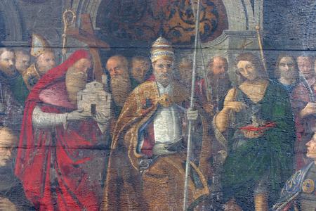 john the baptist: Saint Jerome, Peter and John the baptist