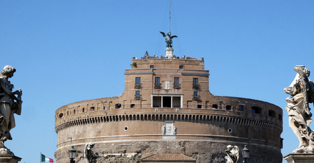 The Mausoleum of Hadrian, usually known as the Castel SantAngelo in Rome, Italy Editorial
