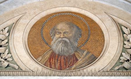 Saint Bartholomew the Apostle, mosaic in the basilica of Saint Paul Outside the Walls, Rome, Italy Stock Photo