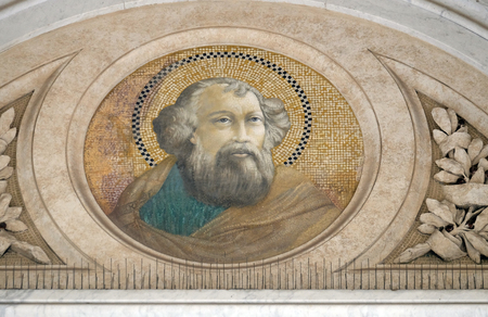 Apostle Saint James the Great, mosaic in the basilica of Saint Paul Outside the Walls, Rome, Italy Stock Photo