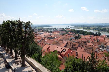 Ptuj, town on the Drava River banks, Lower Styria Region, Slovenia Stock Photo