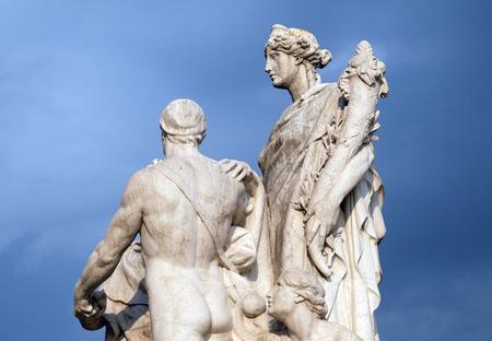 The Concordia by Varese Ludovico Pogliaghi, pacification between the monarchy and the people. Altare della Patria Venice Square, Rome, Italy
