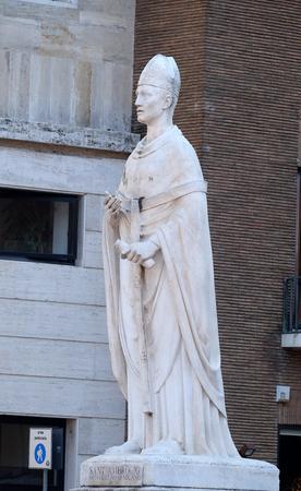 arturo: Saint Ambrose by Arturo Dazzi, Basilica dei Santi Ambrogio e Carlo al Corso, Rome, Italy