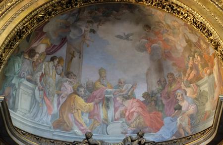 Affresco in Basilica di San Silvestro Primo (San Silvestro in Capite) a Roma, Italia