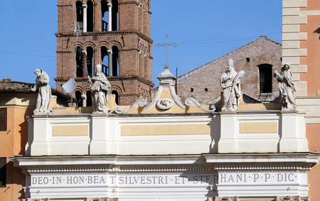 Basilica of Saint Sylvester the First (San Silvestro in Capite) in Rome, Italy Archivio Fotografico