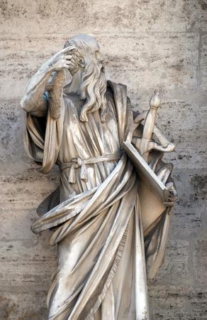 Saint Paul the Apostle, porta del popolo in Rome, Italy