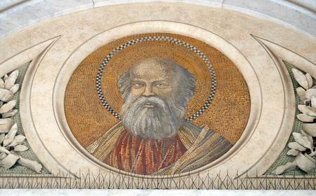 Saint Bartholomew the Apostle, mosaic in the basilica of Saint Paul Outside the Walls, Rome, Italy Editorial