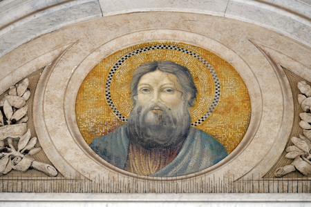 Saint Andrew the Apostle, mosaic in the basilica of Saint Paul Outside the Walls, Rome, Italy Editorial