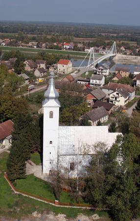 saint martin: Parish Church of Saint Martin in Martinska Ves, Croatia Stock Photo