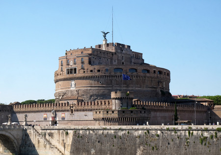 The Mausoleum of Hadrian, usually known as the Castel SantAngelo in Rome, Italy Stock Photo