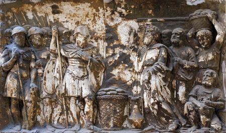 bassorilievo nella Basilica di San Silvestro il primo (San Silvestro in Capite) a Roma, Italia