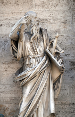 Saint Paul the Apostle, porta del popolo in Rome, Italy