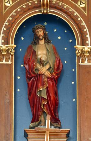 bounded: Bounded Jesus statue in the Parish Church of Saint Martin in Scitarjevo, Croatia Stock Photo