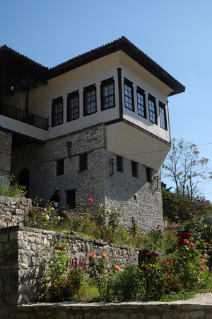 river county: Traditional ottoman house in old town Berat known as the White City of Albania