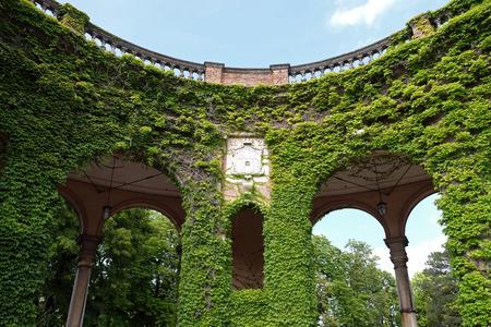 Monumental architecture of Mirogoj cemetery arcades in Zagreb, capital of Croatia Editorial