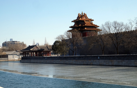 Outer moat corner of the Forbidden City, Beijing, China
