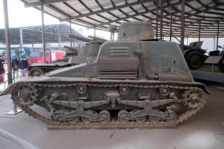 The Japanese Road - railway utility armored Vehicle in the Military Museum of the Chinese Peoples Revolution in Beijing, China