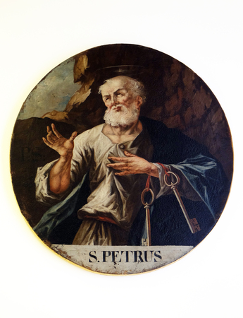 St. Peter, the second half of the 18th century, exhibited in the Museum of Arts and Crafts in Zagreb