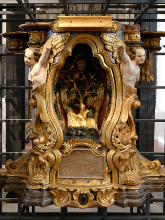 tabernacle: Tabernacle, main altar from the church of St. Mark, exhibited at the Museum of the City of Zagreb