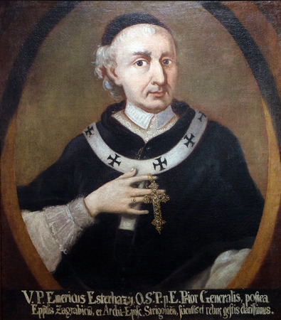 Emeric Esterhazy, Bishop of Zagreb and Archbishop of Esztergom exhibited at the Museum of the City of Zagreb