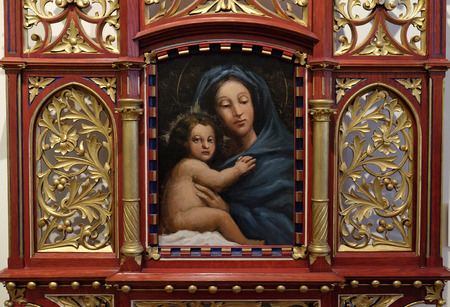 Madonna and Child, home altar, exhibited at the Museum of the City of Zagreb
