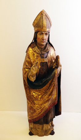 Saint Virgil, the end of the 15th century, from the Church of St. Vitus in Vrbovec, exhibited in the Museum of Arts and Crafts in Zagreb